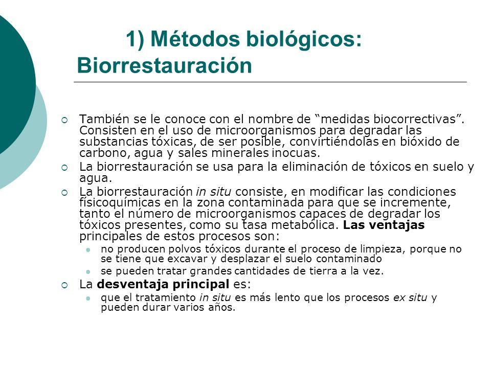 1) Métodos biológicos: Biorrestauración
