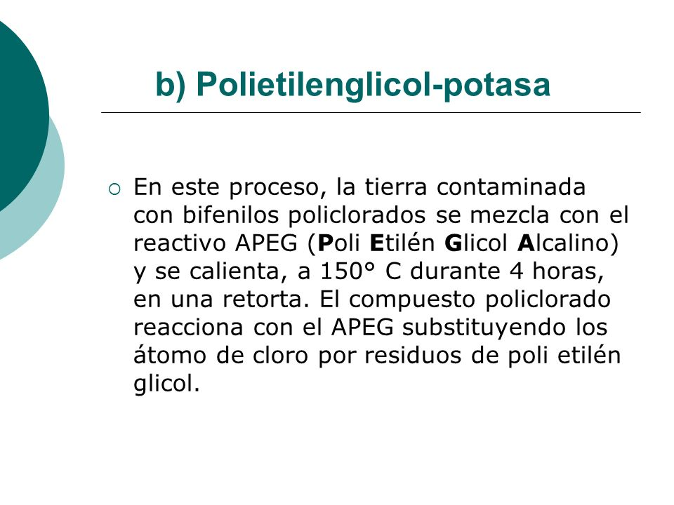 b) Polietilenglicol-potasa