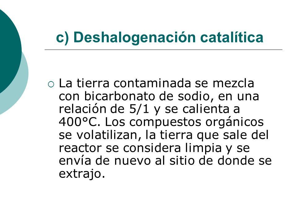 c) Deshalogenación catalítica