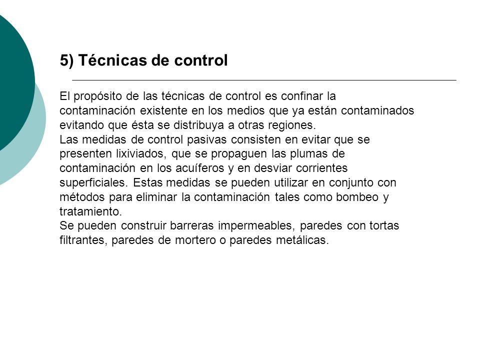 5) Técnicas de control