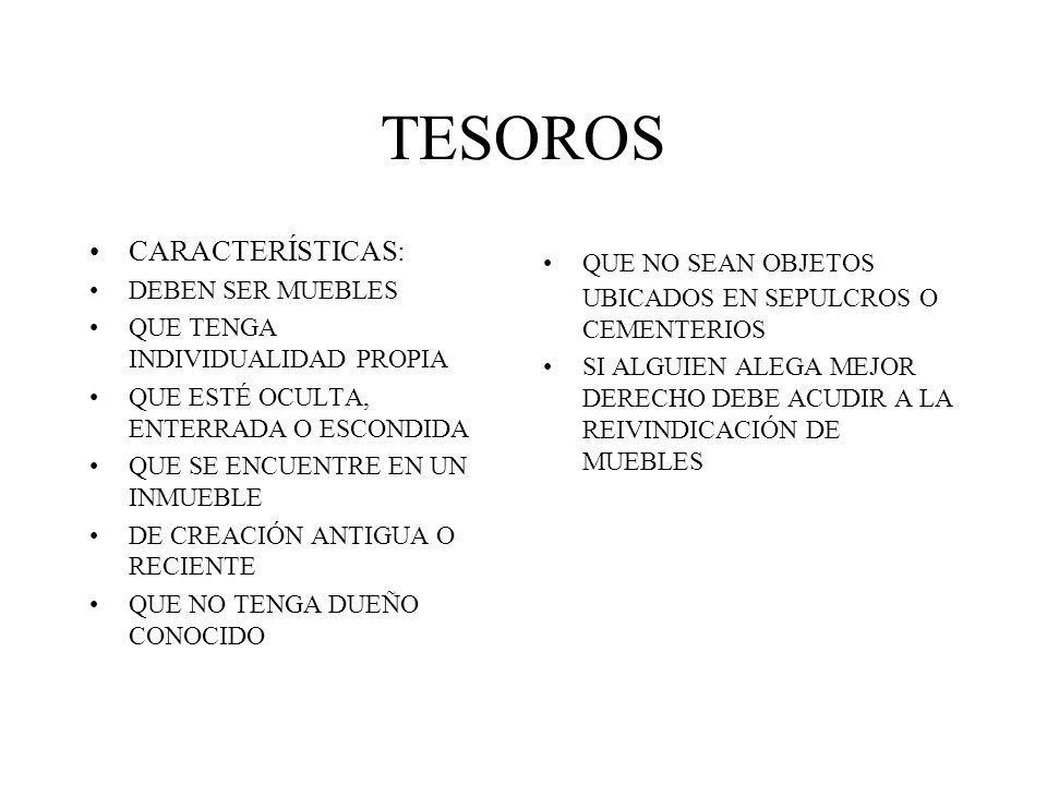 TESOROS CARACTERÍSTICAS: