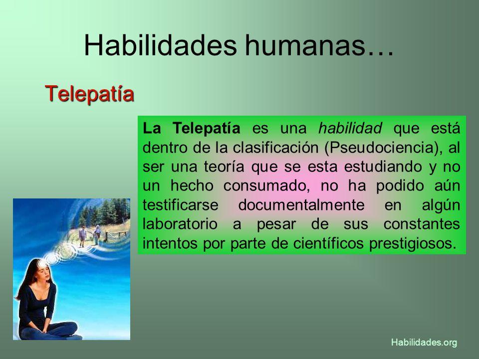 Habilidades humanas… Telepatía