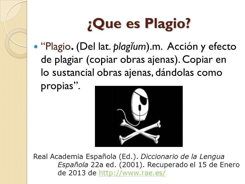 ¿Que es Plagio