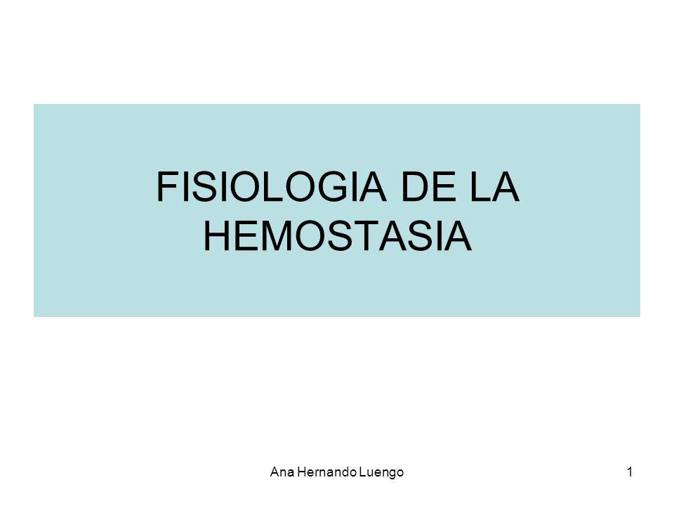 FISIOLOGIA DE LA HEMOSTASIA