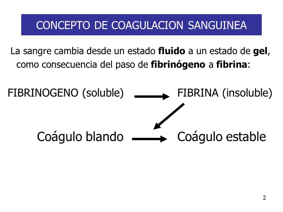 CONCEPTO DE COAGULACION SANGUINEA