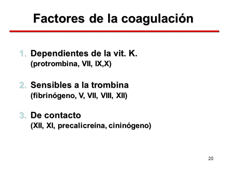 Factores de la coagulación