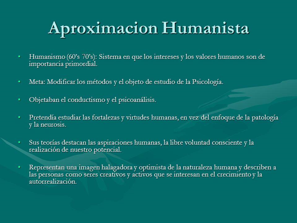 Aproximacion Humanista
