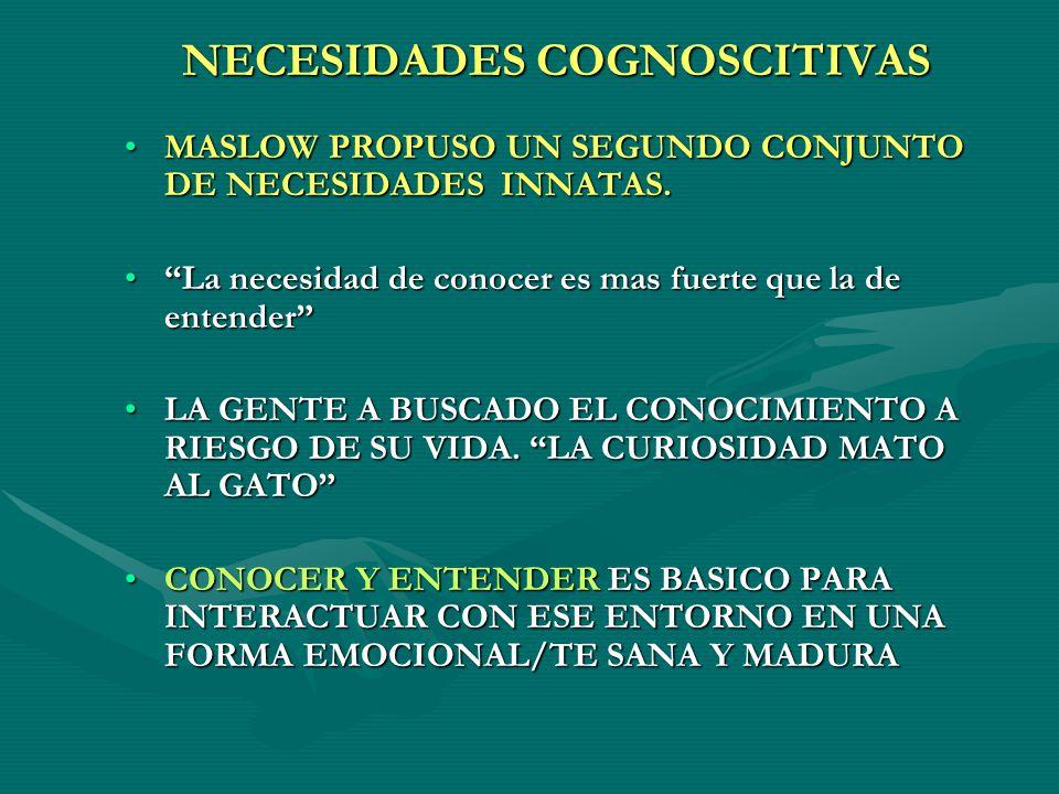 NECESIDADES COGNOSCITIVAS