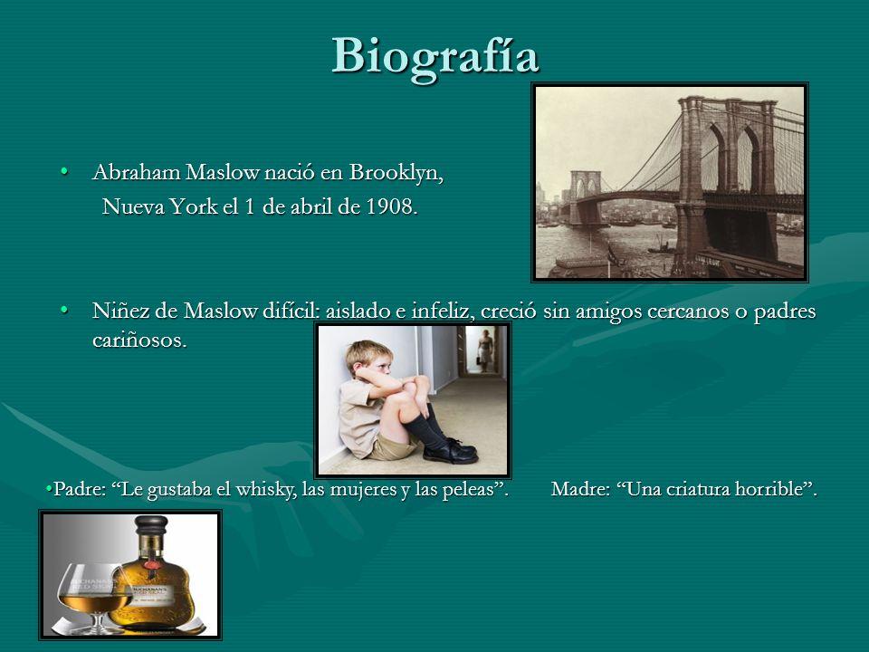 Biografía Abraham Maslow nació en Brooklyn,