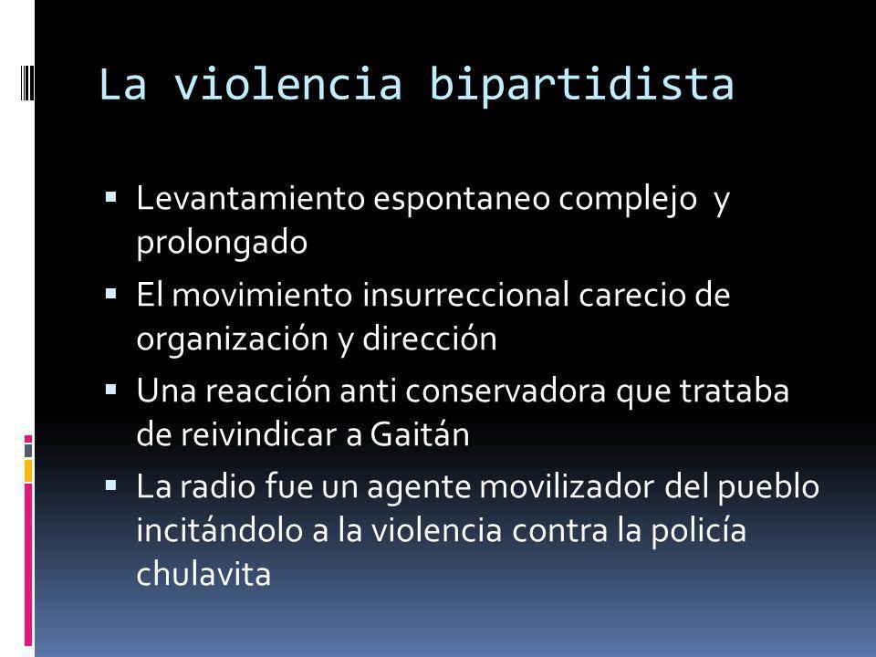 La violencia bipartidista