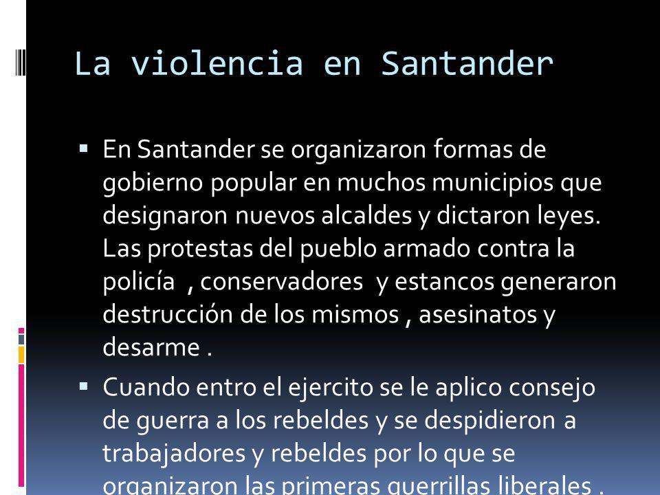 La violencia en Santander