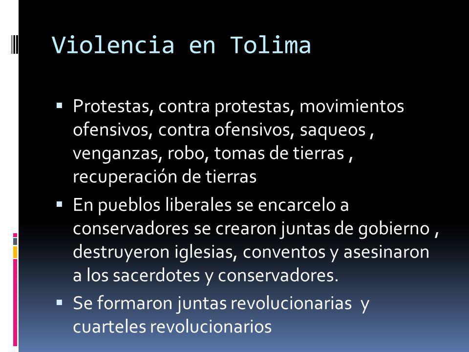 Violencia en Tolima