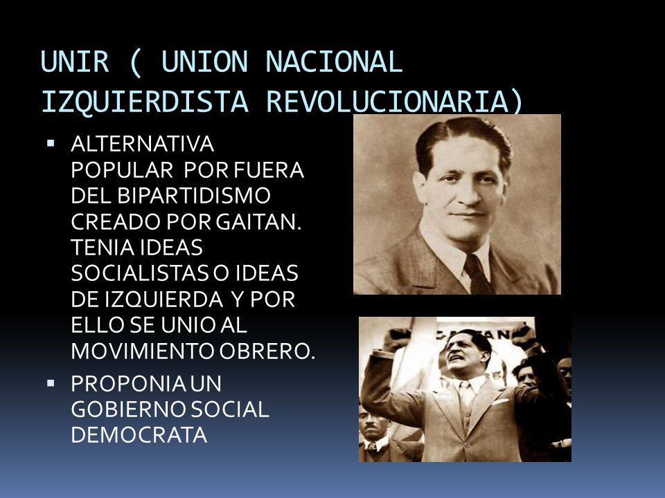 UNIR ( UNION NACIONAL IZQUIERDISTA REVOLUCIONARIA)