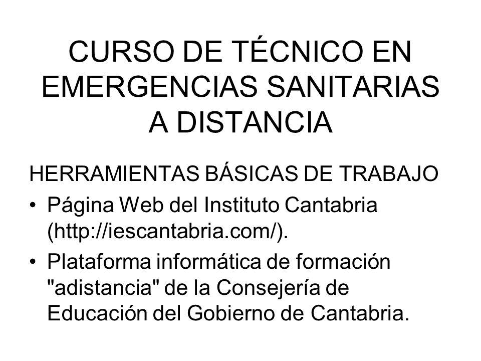 CURSO DE TÉCNICO EN EMERGENCIAS SANITARIAS A DISTANCIA
