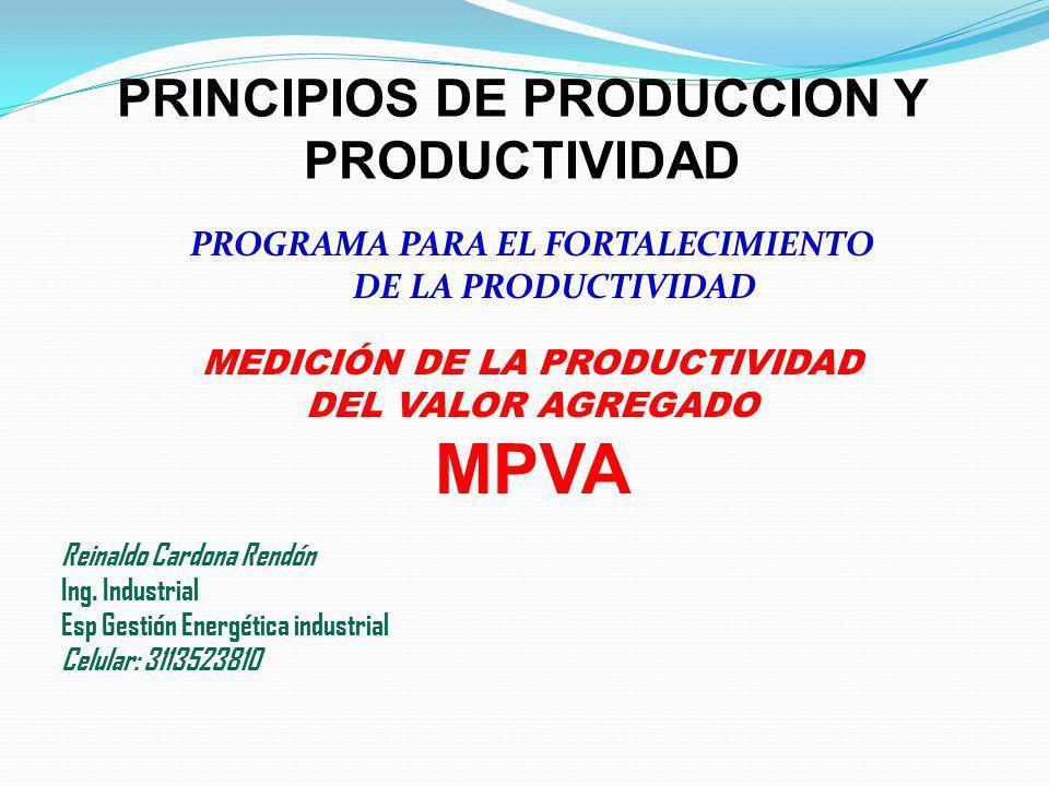 MPVA PRINCIPIOS DE PRODUCCION Y PRODUCTIVIDAD