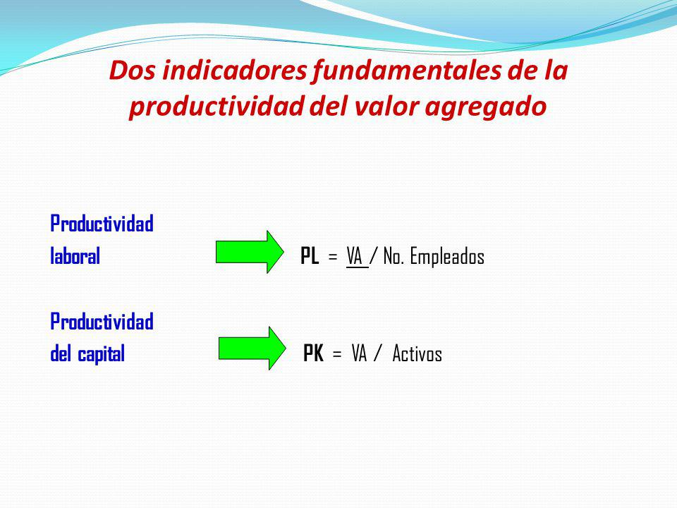 Dos indicadores fundamentales de la productividad del valor agregado