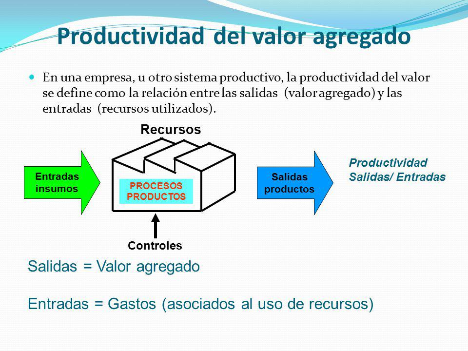 Productividad del valor agregado