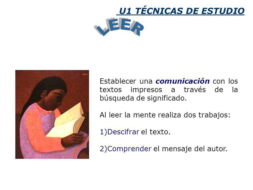 LEER U1 TÉCNICAS DE ESTUDIO
