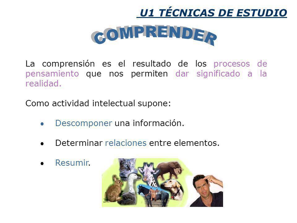 COMPRENDER U1 TÉCNICAS DE ESTUDIO