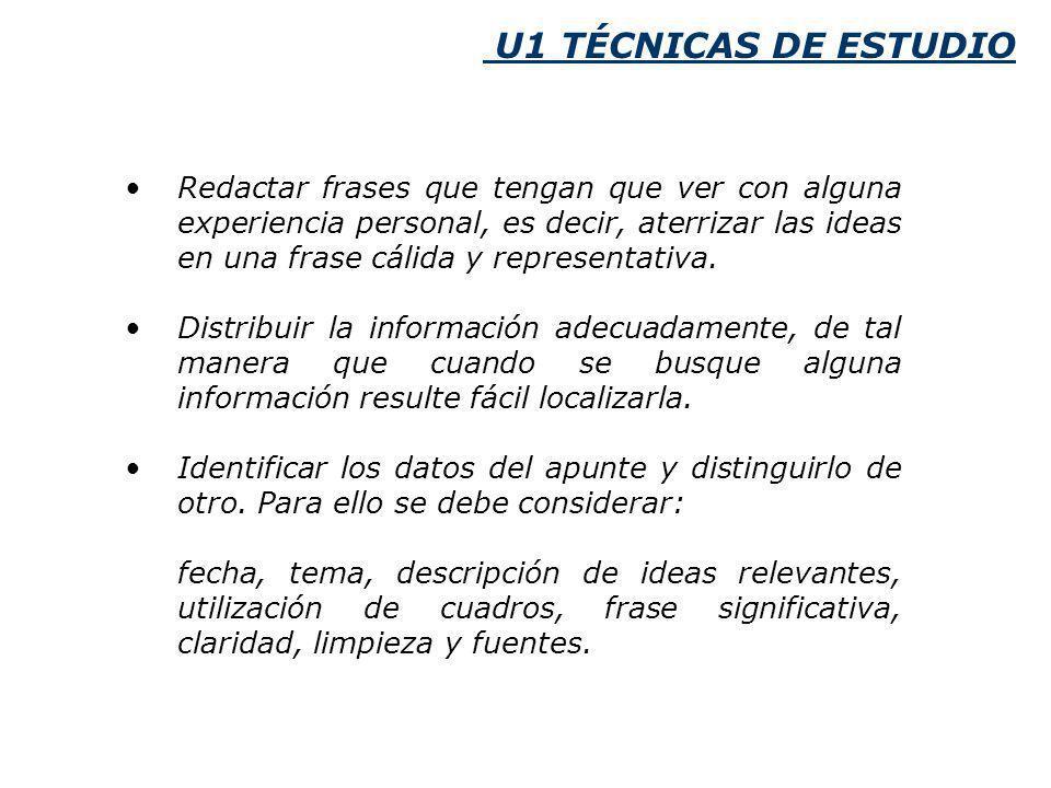 U1 TÉCNICAS DE ESTUDIO