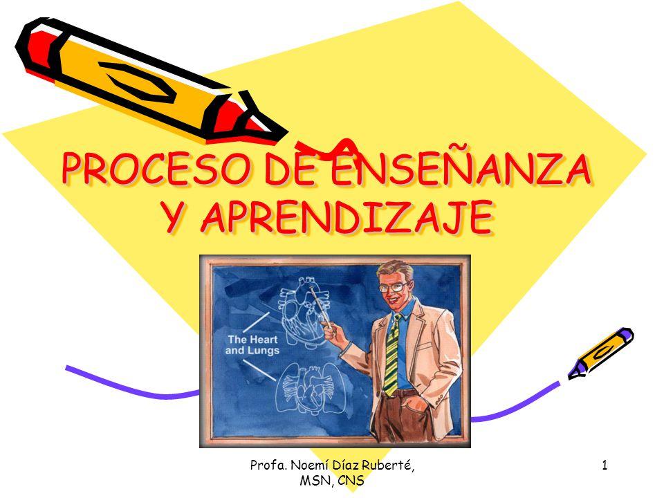 PROCESO DE ENSEÑANZA Y APRENDIZAJE