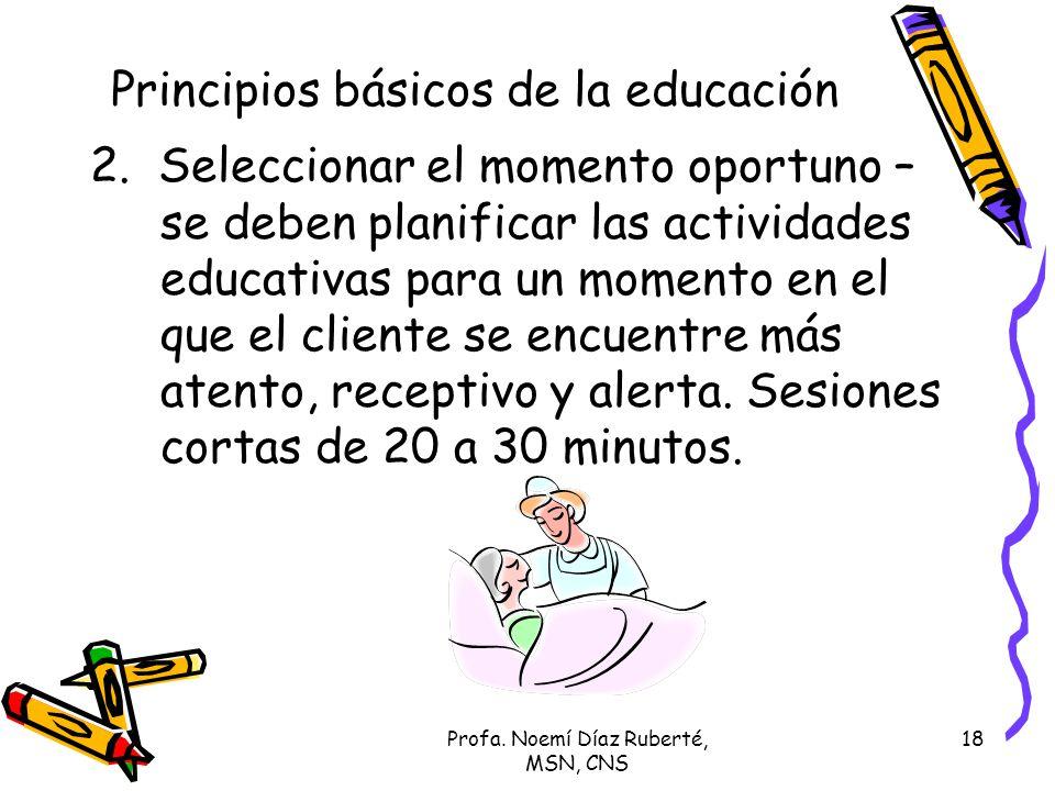 Principios básicos de la educación
