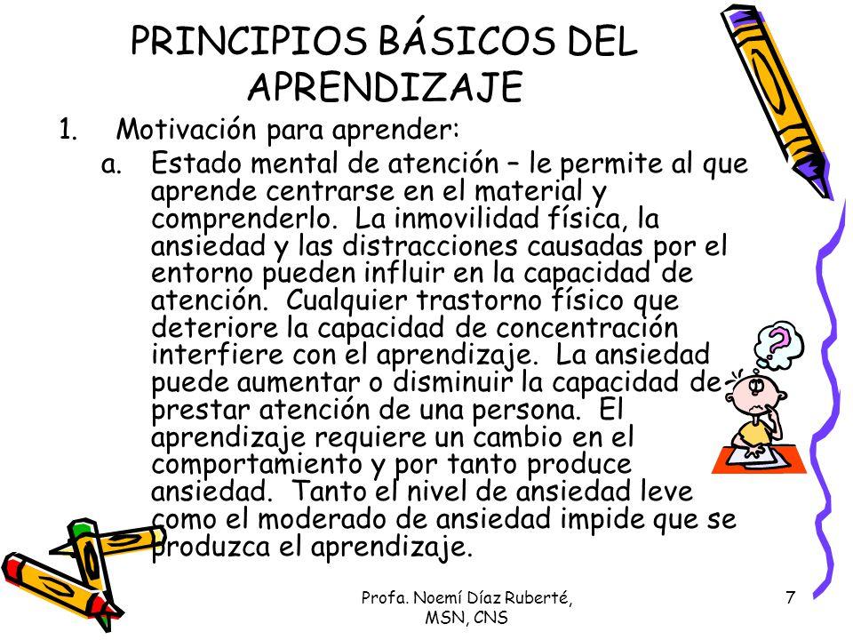 PRINCIPIOS BÁSICOS DEL APRENDIZAJE