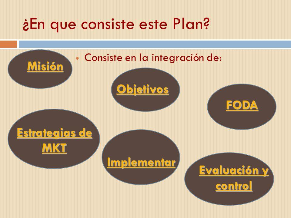 ¿En que consiste este Plan