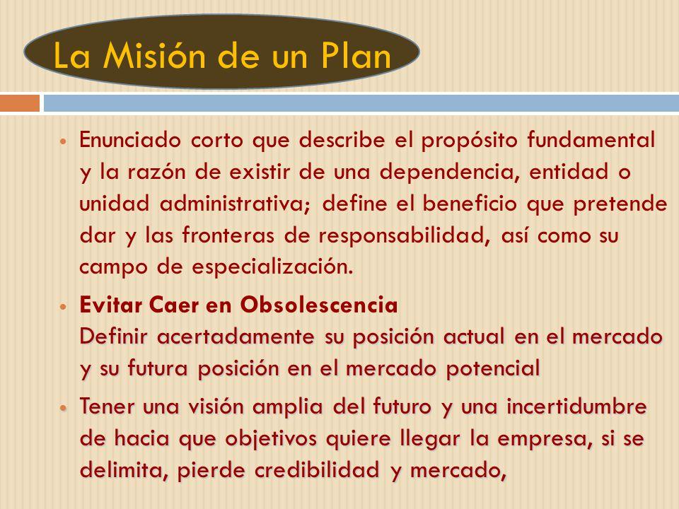 La Misión de un Plan