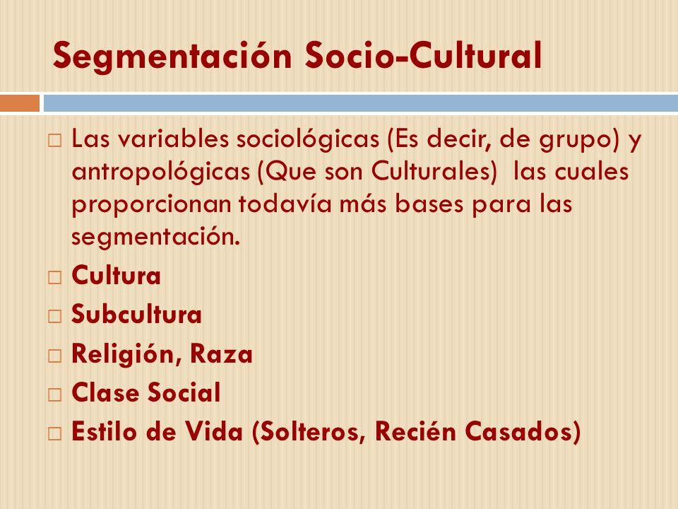 Segmentación Socio-Cultural