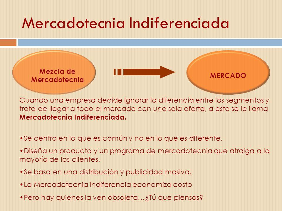 Mercadotecnia Indiferenciada