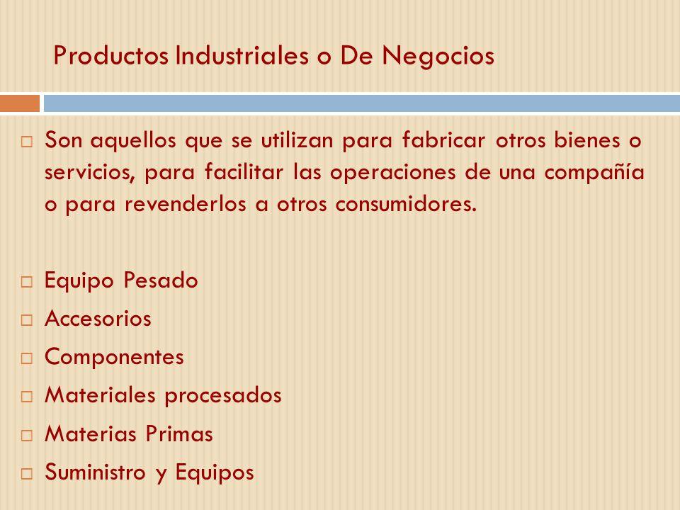 Productos Industriales o De Negocios