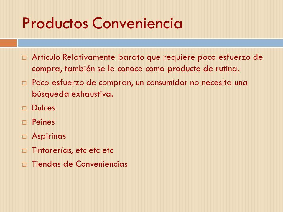 Productos Conveniencia
