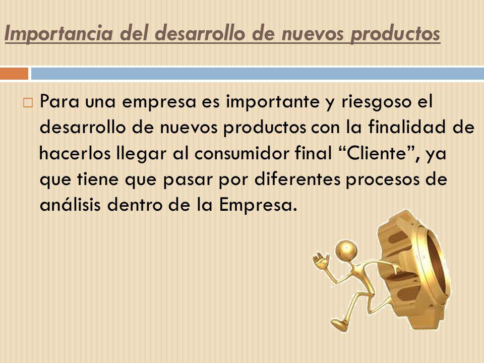 Importancia del desarrollo de nuevos productos