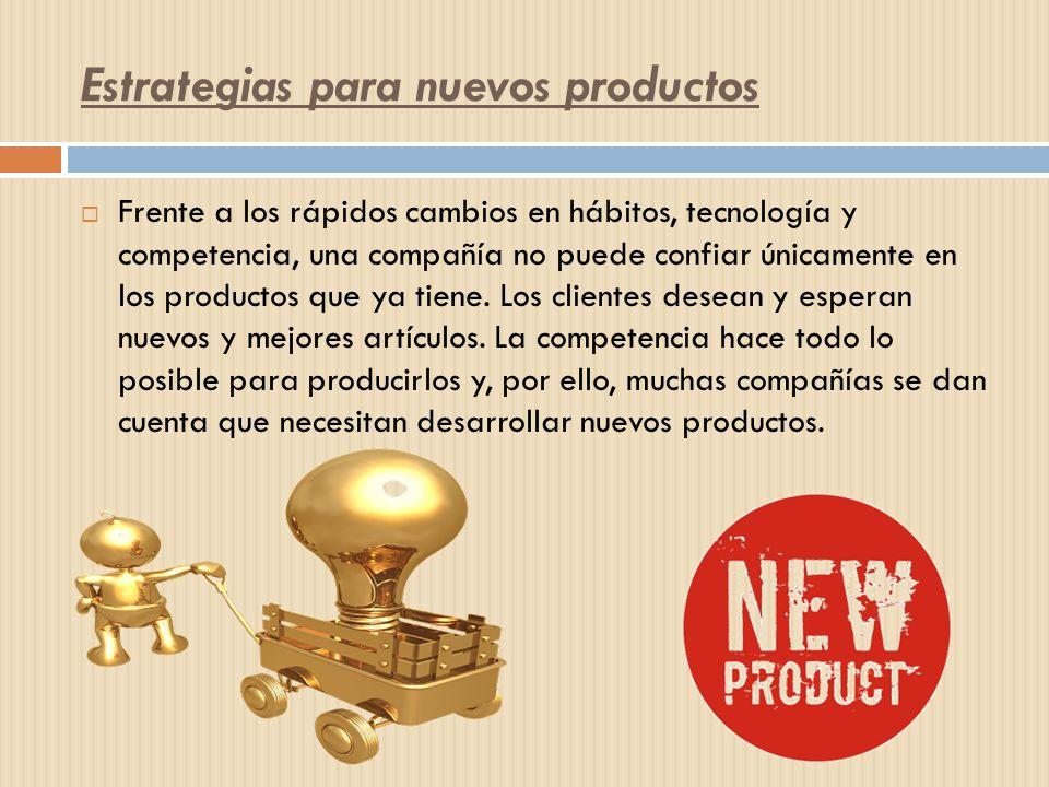 Estrategias para nuevos productos