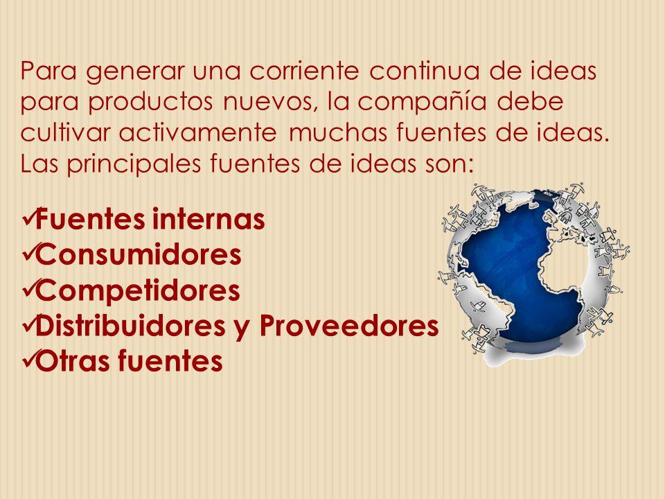 Distribuidores y Proveedores Otras fuentes