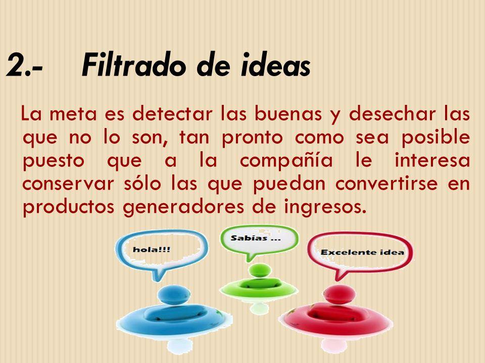 2.- Filtrado de ideas