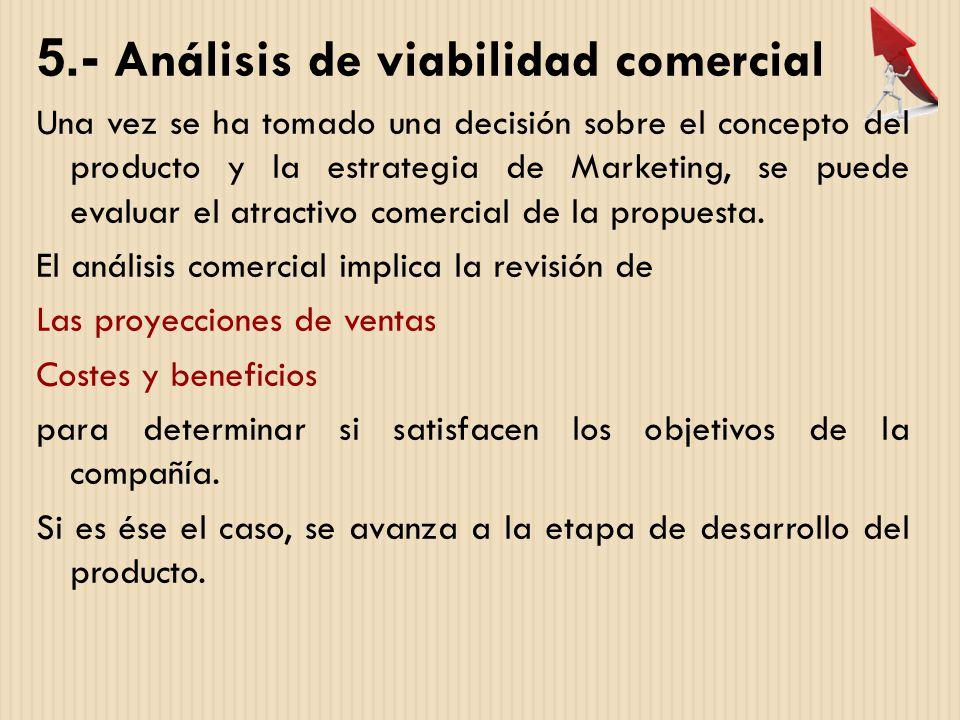5.- Análisis de viabilidad comercial