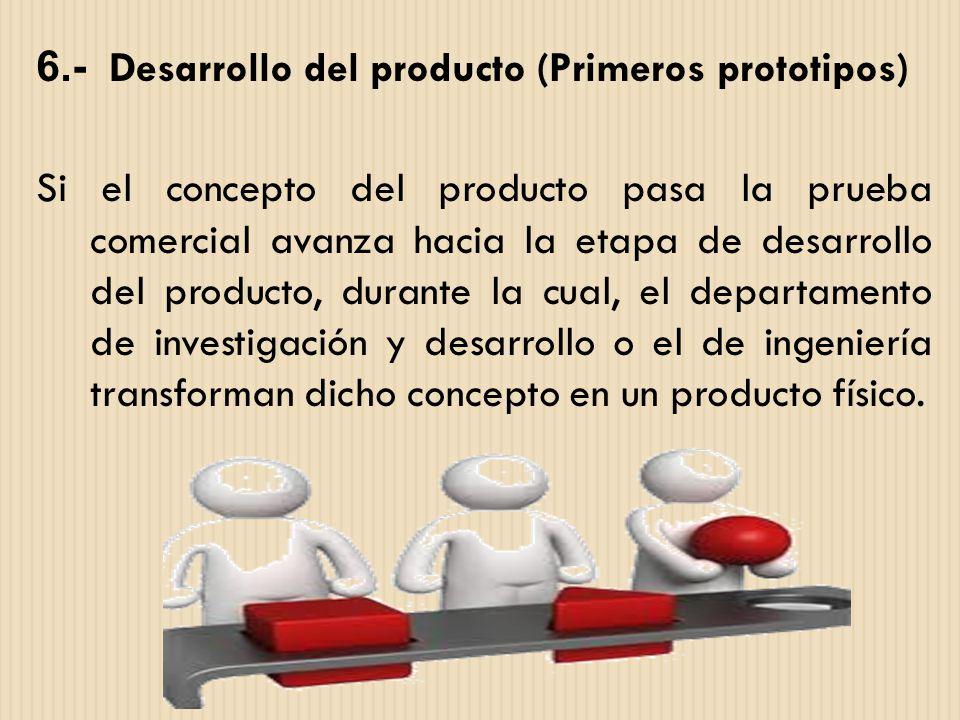 6.- Desarrollo del producto (Primeros prototipos)