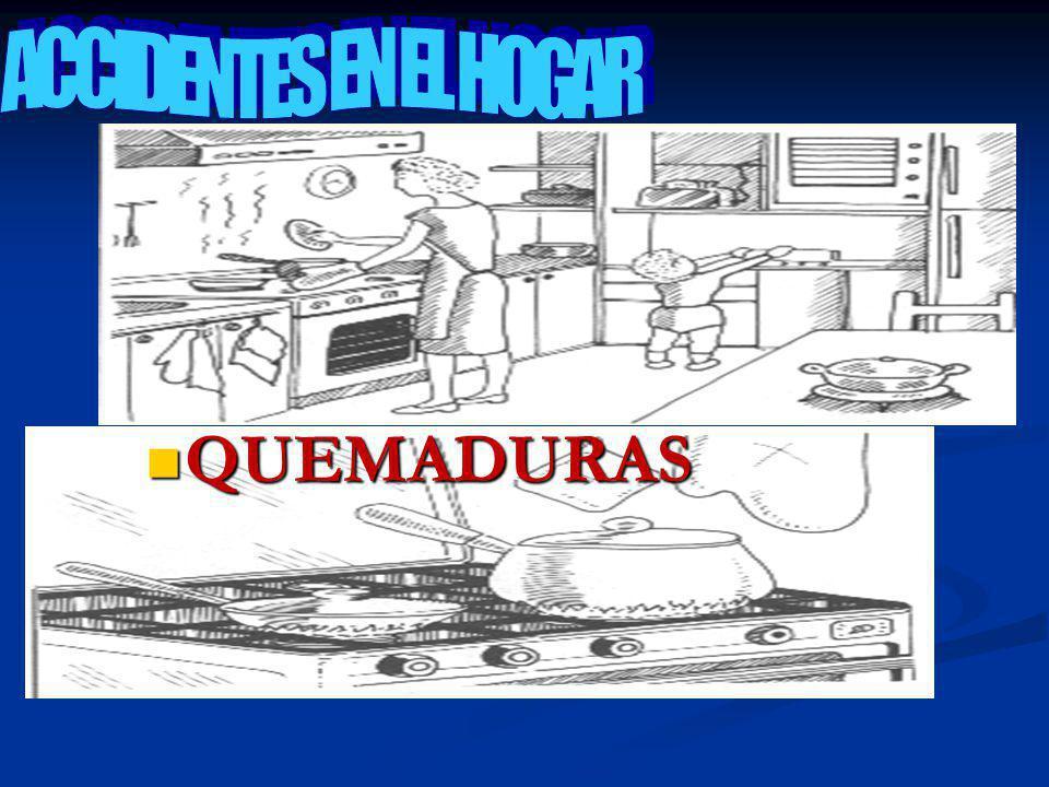 ACCIDENTES EN EL HOGAR QUEMADURAS
