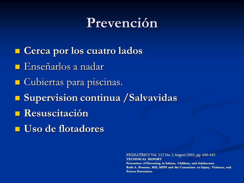 Prevención Cerca por los cuatro lados Enseñarlos a nadar