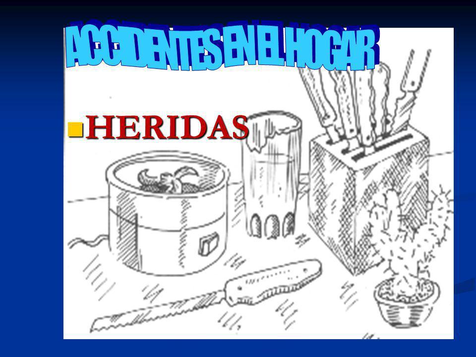 ACCIDENTES EN EL HOGAR HERIDAS