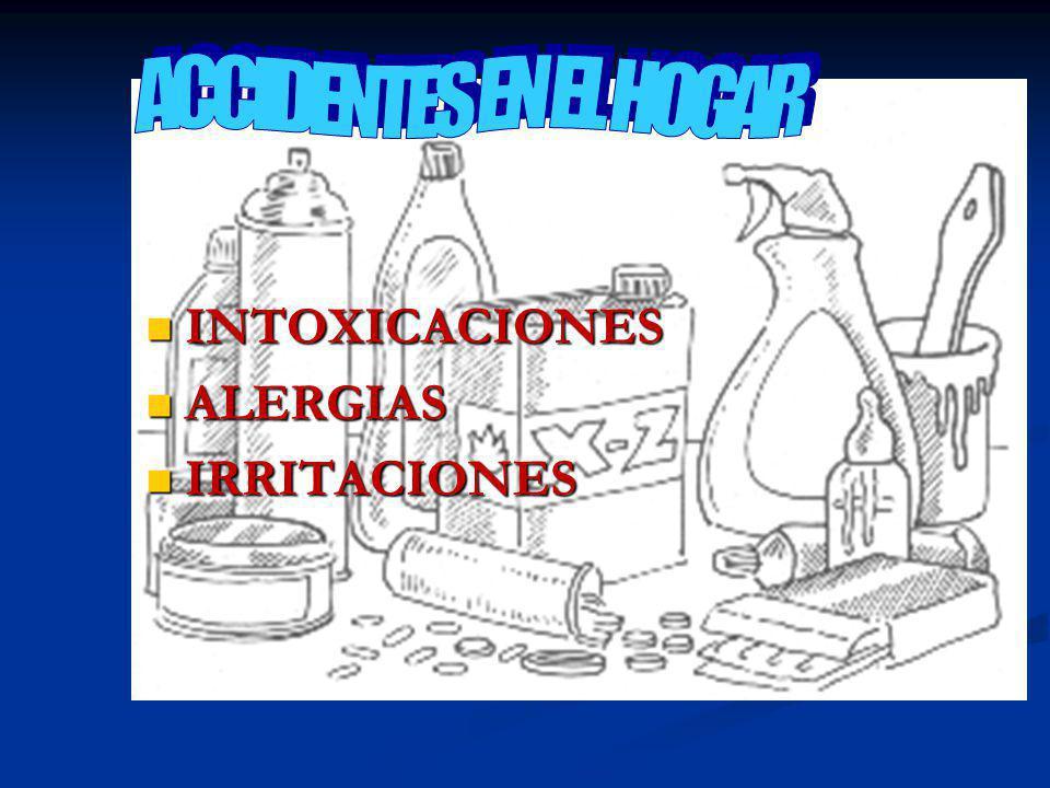 ACCIDENTES EN EL HOGAR INTOXICACIONES ALERGIAS IRRITACIONES