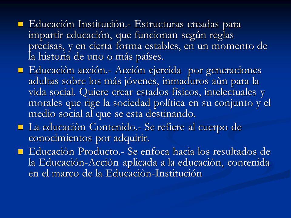 Educación Institución