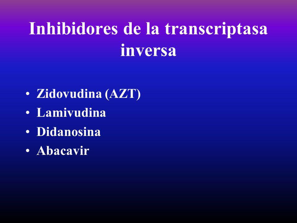 Inhibidores de la transcriptasa inversa