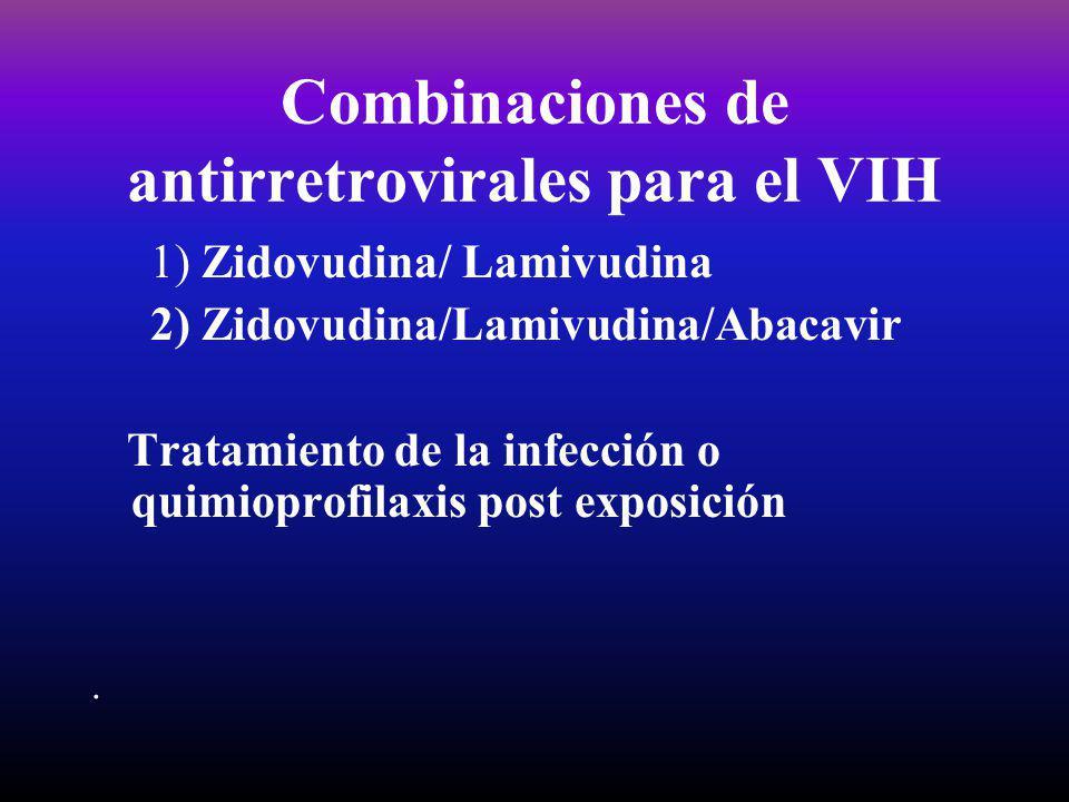 Combinaciones de antirretrovirales para el VIH