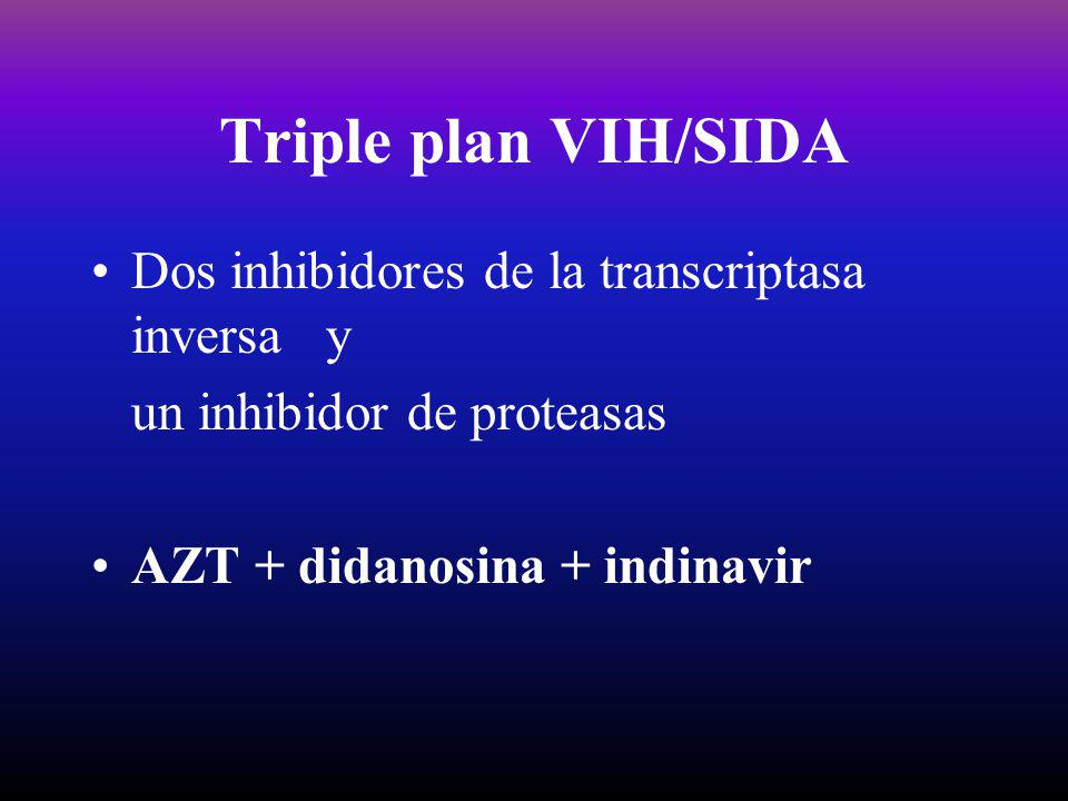 Triple plan VIH/SIDA Dos inhibidores de la transcriptasa inversa y