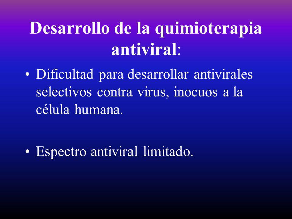 Desarrollo de la quimioterapia antiviral: