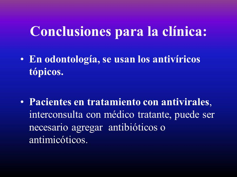 Conclusiones para la clínica: