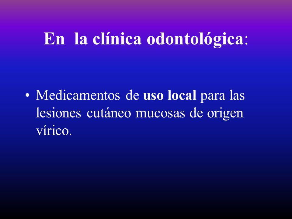 En la clínica odontológica: